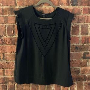 Banana Republic black silky blouse